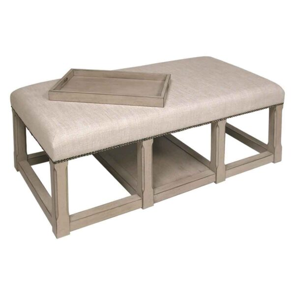 Fantastic Bench Cocktail Ottoman With Tray Available In 2 Finishes Cjindustries Chair Design For Home Cjindustriesco